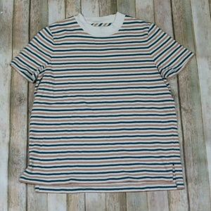 Madewell Crew Neck Tee Top Stripes S/S Casual